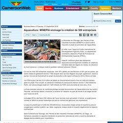 Aquaculture: MINEPIA envisage la création de 300 entreprises