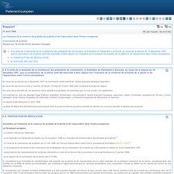 PARLEMENT EUROPEEN 28/04/98 Rapport sur l'industrie de la conserve de produits de la pêche et de l'aquaculture dans l'Union euro