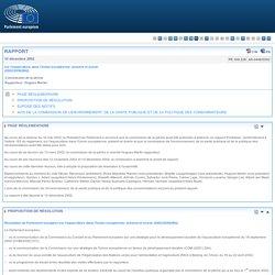 PARLEMENT EUROPEEN 10/12/02 Rapport sur l'aquaculture dans l'Union européenne: présent et avenir (2002/2058)