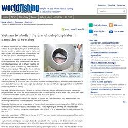 WORLDFISHING 23/04/10 Vietnam to abolish the use of polyphosphates in pangasius processing