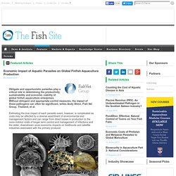 FISHSITE 26/10/15 Economic Impact of Aquatic Parasites on Global Finfish Aquaculture Production