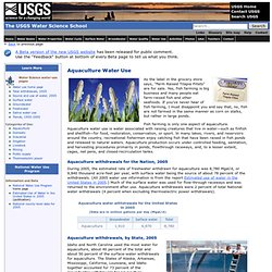 Aquaculture Water Use, the USGS Water Science School