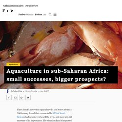 Aquaculture in sub-Saharan Africa: small successes, bigger prospects? - Forbes Africa - Forbes Africa