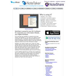 Software - NoteTaker Product Page