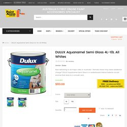 BUY DULUX Aquanamel Semi Gloss Paint 4L-10L All Whites <span class='money'>$83.00</span> /Paint Online at Painting Tools & Accessories Online Store