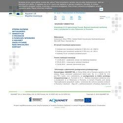 Aquanet i UE - Wspólne inwestycje