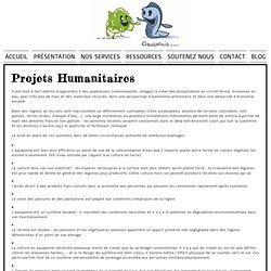 PROJETS HUMANITAIRES