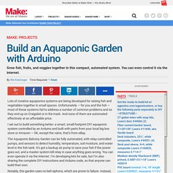 Build an Aquaponic Garden with Arduino — Gardening