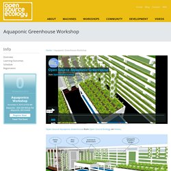 Aquaponic Greenhouse Workshop