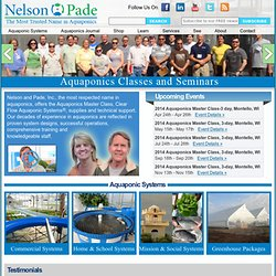 Aquaponics, Hydroponics, Organic - Systems, Consulting, Information, Design and Kits