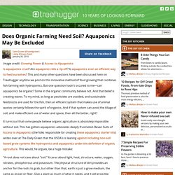 Does Organic Farming Need Soil? Aquaponics May Be Excluded