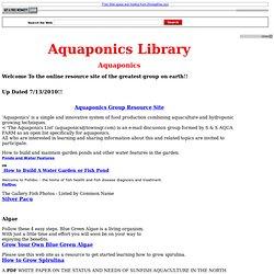 Aquaponics Library - Aquaponics