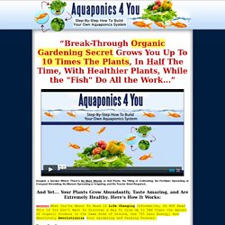 Aquaponics 4 You - Step-By-Step How To Build Your Own Aquaponics System