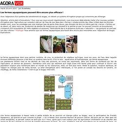 Les fermes aquaponiques peuvent être encore plus efficace!