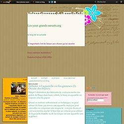 Le blog de Magali Chadeau - Débuter à l'aquarelle ou les gammes (3) Ouvrir des blancs.