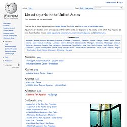 List of aquaria in the United States