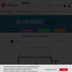Aquarium et évier