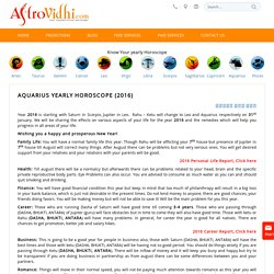 Aquarius Yearly Horoscope - Aquarius yearly Love, Career & Business Horoscope