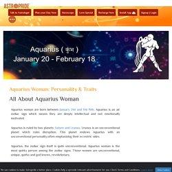 Aquarius Woman: Personality & Traits