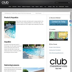 Pools and Aquatics, Swimming Lessons, Fitness centre- Club Meadowvale