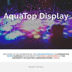 AquaTop - An Interactive Water Surface