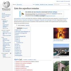 Liste des aqueducs romains