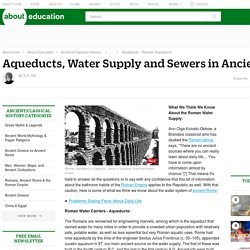 Aqueducts, Water Supply and Sewers in Ancient Rome