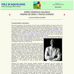 "Fili d'aquilone - num. 11, Darío Jaramillo Agudelo: ""Poemas de amor"""