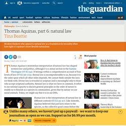Thomas Aquinas, part 6: natural law