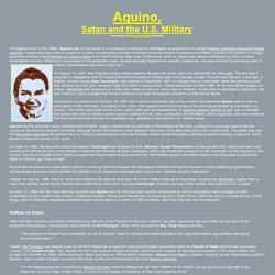 Aquino, Satan and the U.S. military