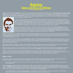 Aquino, Satan and the U.S. military