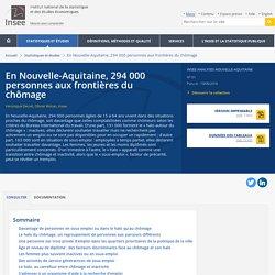 En Nouvelle-Aquitaine, 294000 personnes aux frontières du chômage - Insee Analyses Nouvelle-Aquitaine - 61