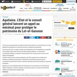 [Etat + CD du Lot-et-Garonne] - Mécénat pour la protection du patrimoine du Lot-et-Garonne