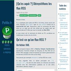 [Qu'es aquò?] Démystifions les flux RSS · Pofilo.fr