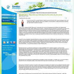 AQUOPS 2013 - Répondre aux réels besoins d'un élève du 21e siècle
