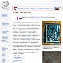Arabesque (Islamic art)
