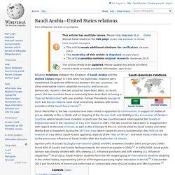 Saudi Arabia–United States relations - Wikipedia