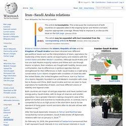 Iran–Saudi Arabia relations - Wikipedia