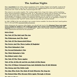Arabian Nights - Index
