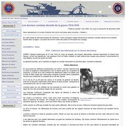 Les derniers combats décisifs en 1918 - ARAC de la Marne