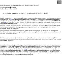 """PONENCIA """"RÉGIMEN DE SEPARACIÓN DE BIENES"""""""