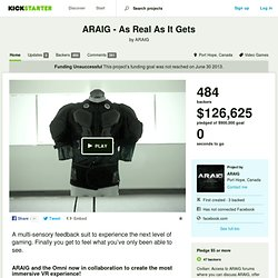ARAIG - As Real As It Gets by ARAIG