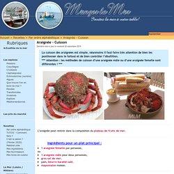 Araignée - Cuisson - Manger La Mer
