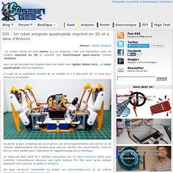 Un robot araignée quadrupède imprimé en 3D et à base d'Arduino