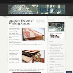 Araihari: The Art of Washing Kimono