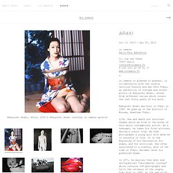 Araki - Paris Photo Agenda