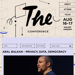 Aral Balkan - Privacy, Data, Democracy