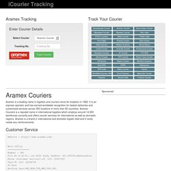 Aramex Courier Tracking: Track Aramex Courier Online