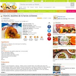 Arancini, boulettes de riz farcies siciliennes, Recette Ptitchef