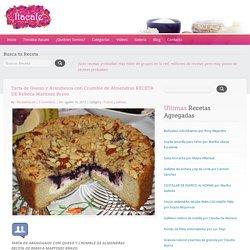 Tarta de Queso y Arándanos con Crumble de Almendras RECETA DE Rebeca Martínez Bravo – Recetas Itacate